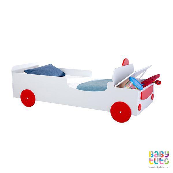 Cama de transición madera modelo auto, $134.990 (precio referencial). Marca Kidscool: http://bit.ly/1IhNmFq