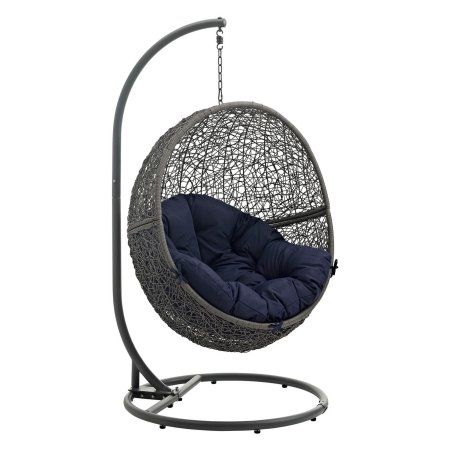 Modway Hide Outdoor Patio Swing Chair, Multiple Colors Available, Blue