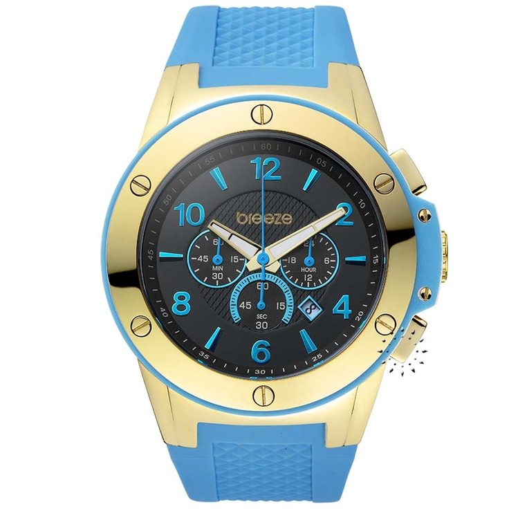 BREEZE Cool Navy Chrono Blue Rubber Strap Μοντέλο: 111011.2 Τιμή: 205€ http://www.oroloi.gr/product_info.php?products_id=30568