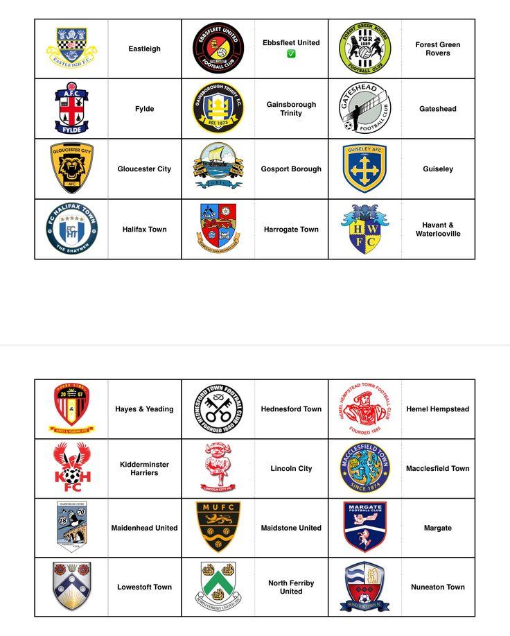 Official Club Crests - England (Non League) - Part 2