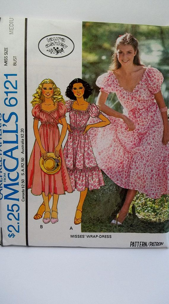 Boho Gypsy Dress McCall\'s 6121 Retro 70\'s Sewing Pattern, Square or ...