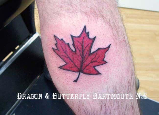 Red Maple Leaf Tattoo 015/