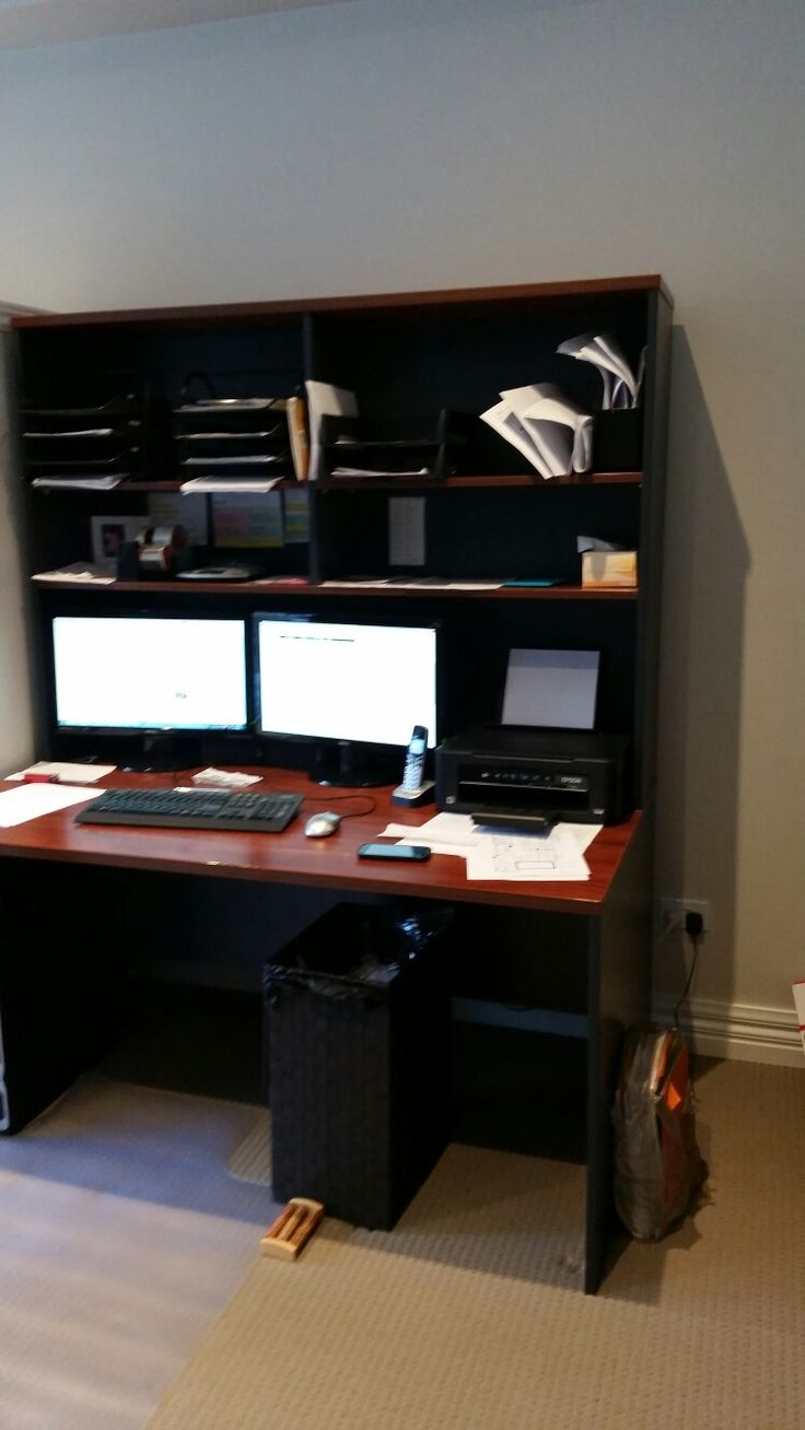 I had these ordinary office desks which didnt suit my home so i transformed them into french provincial style desks.