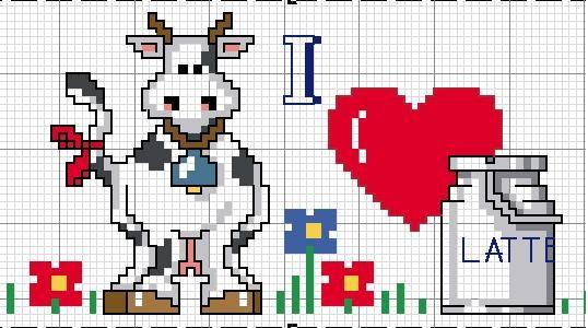vaca con lechera