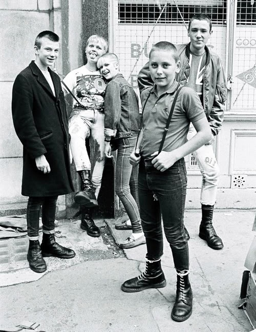Teenage skinheads in London, 1983