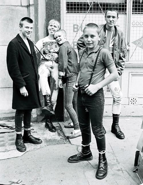 Teenage skinheads in London, 1983