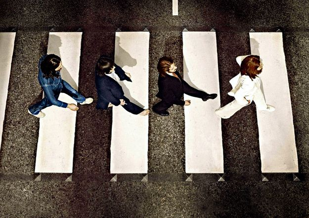 Rare Behind The Scenes Photos From The Abbey Road Cover Shoot