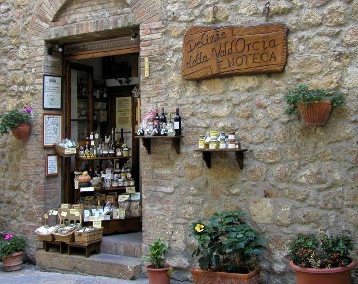 Tienda en Pienza, La Toscana, Italia