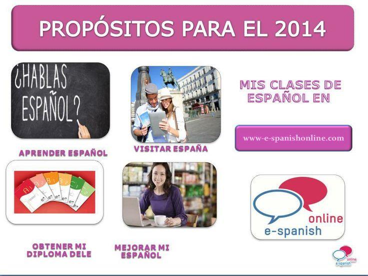 TUS PROPÓSITOS PARA EL 2014 ¿APRENDER ESPAÑOL ESTÁ ENTRE ELLOS?