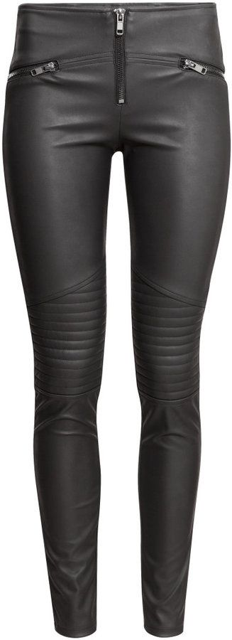 H&M - Biker Leggings - Black - Ladies