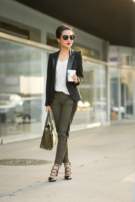 Olive Love :: Canvas pants & Celine Micro