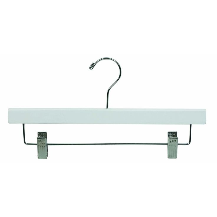 White Wooden Bottom Hanger with Clips - Overstock™  I need about 50-75 of these.