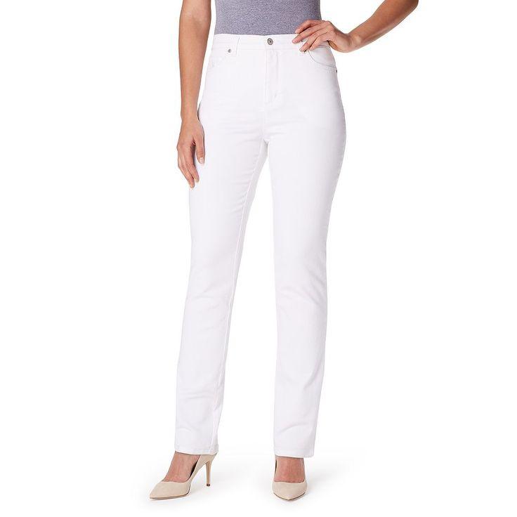 Women's Gloria Vanderbilt Amanda Classic Tapered Jeans, Size: 16 Avg/Reg, White