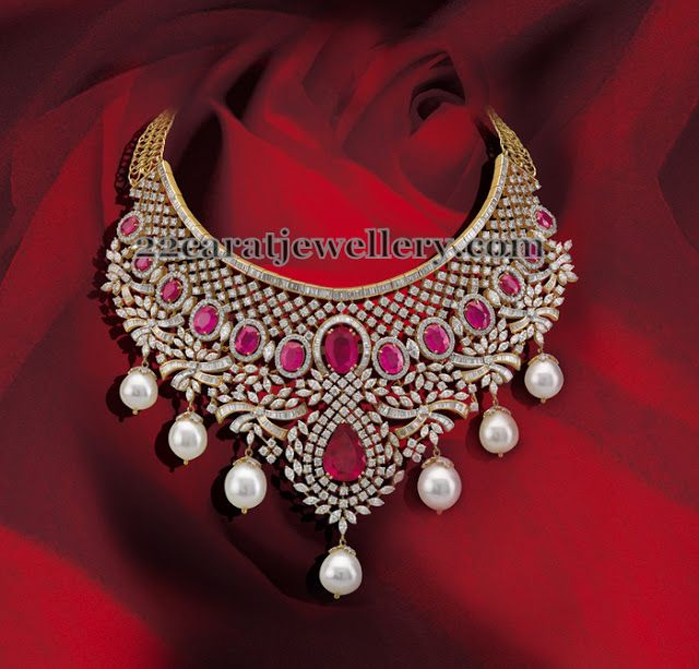 Jewellery Designs: Mind Blowing Cabochon Rubies Necklace