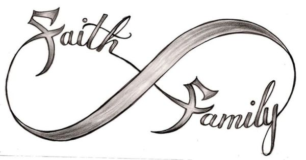 Grey Faith Family Infinity Symbol Tattoo Design By Metacharis