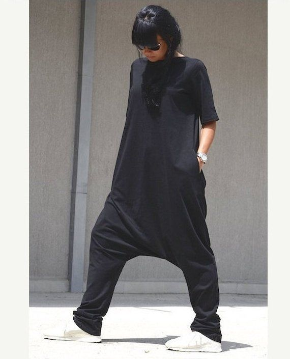 plus size jumpsuit with short sleeves oversize drop crotch jumpsuit with pockets floor length. Black Bedroom Furniture Sets. Home Design Ideas