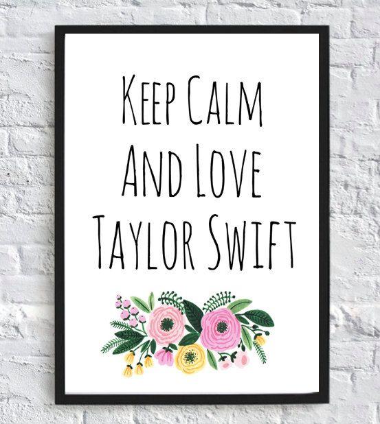 Keep Calm and Love Taylor Swift-Printable Wall Art (8x10) Digital Wall Art, Taylor Swift Poster