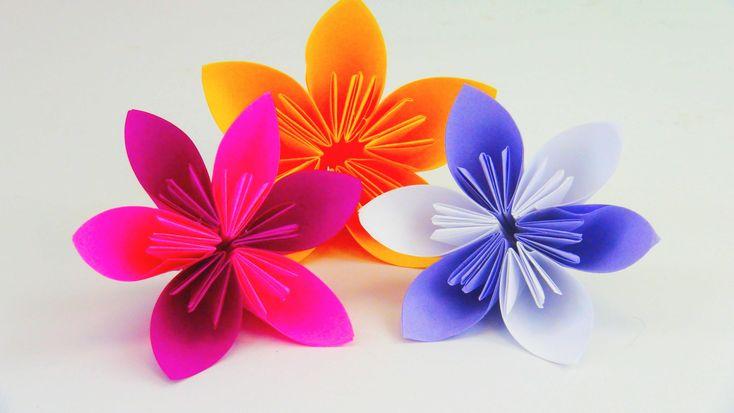blume falten origami diy sch ne blumen f r den fr hling. Black Bedroom Furniture Sets. Home Design Ideas