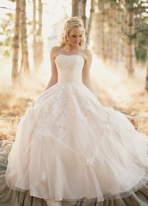 wedding dress!!! I'm obsessed with the lace accents on the skirt!