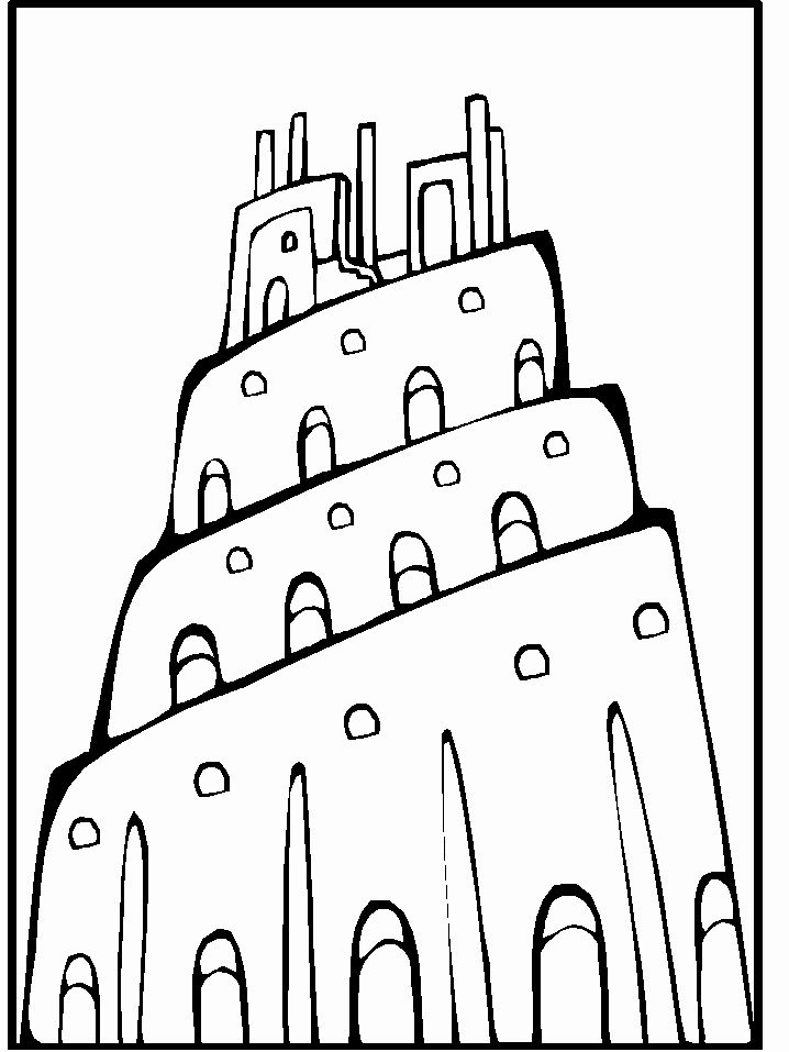 Tower Of Babel Coloring Page Elegant Tower Of Babel Bible Lessons Plans Old Testament Bible Bible Lessons