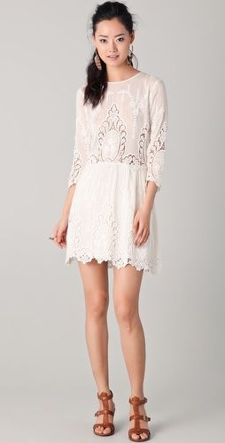 dolce vita lace dress $275: Fashion, Valentina Lace Dress, Style, Turtleneck, Beautiful Dresses, White Lace Dresses, Vita Valentina, 2Nd Wedding Dresses, Sweet Life