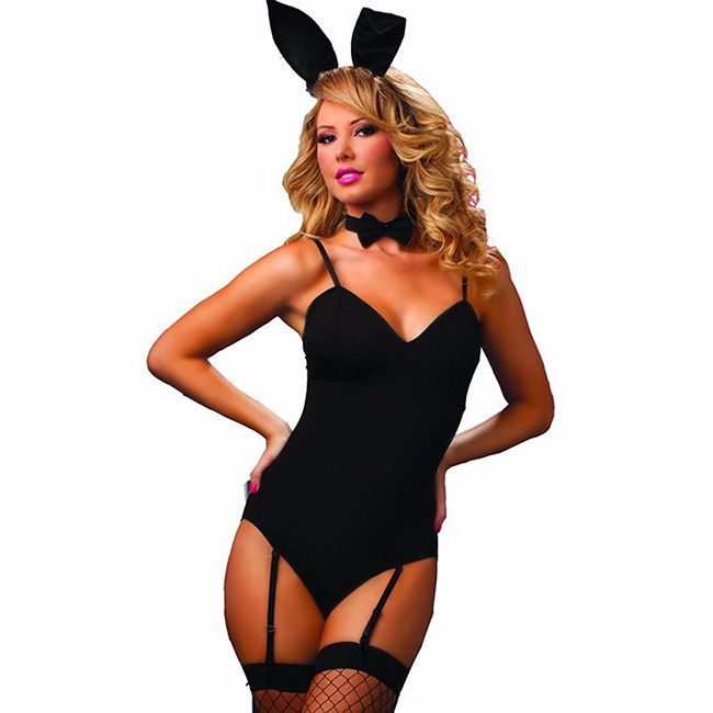 This sensual bunny costume offers a four piece teddy including bunny ears and tail. This comfortable costume is constructed of polyester and elastane. Material: Polyester Occasion: Halloween Fabric Ca