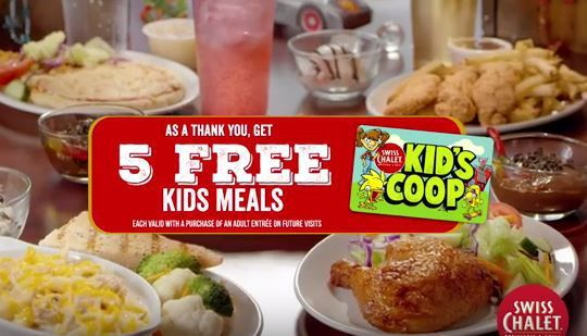 NEW Kid's Coop Card!  5 FREE Meals!