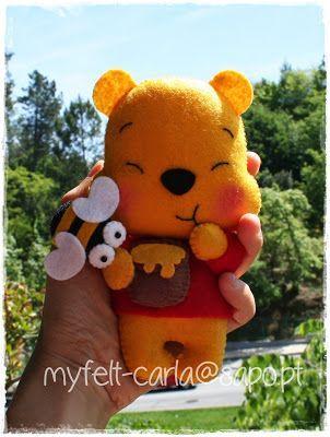 Winnie the Pooh em feltro!