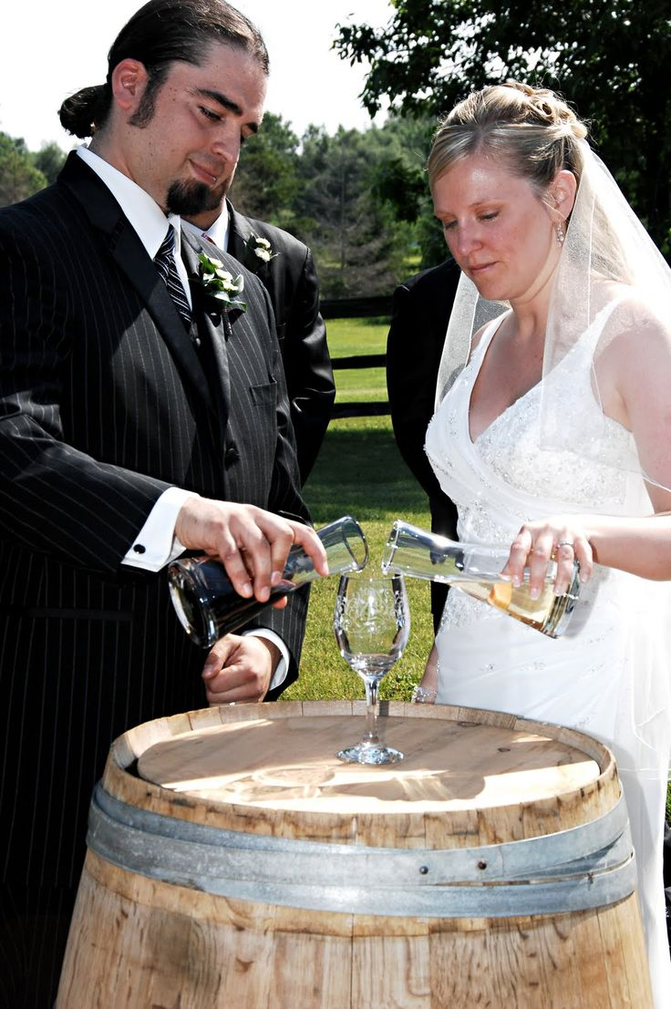 Wine Unity Ceremony For A Wine Or Vineyard Themed Wedding.