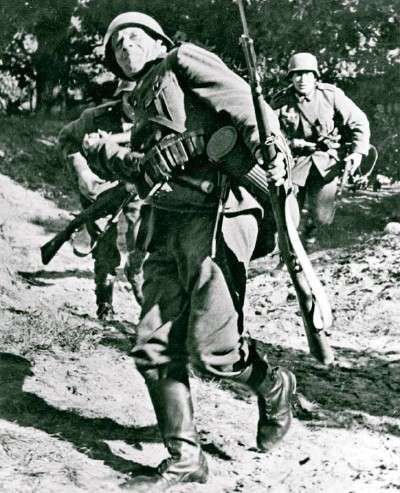 World War II Image - German infantrymen - known as panzergrenadiers - secured Nazi Germany's quick victory over Poland.
