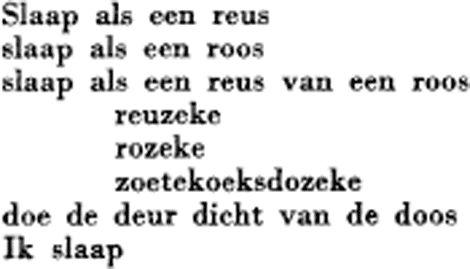 Paul Van Ostaijen slaap als een reus gedicht -