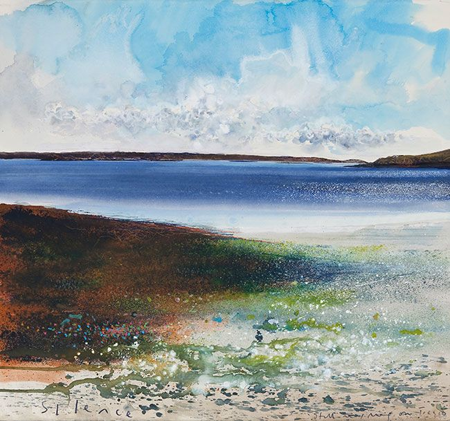Kurt Jackson: Silence. Still morning on Tresco. June 2010 Campden Gallery, fine art, Chipping Campden, camden gallery, contemporary, contemp...