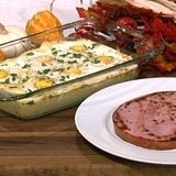 Yummy - Eggs in heaven;  Eggs cooked on top of cheesy grits.  I can't wait!
