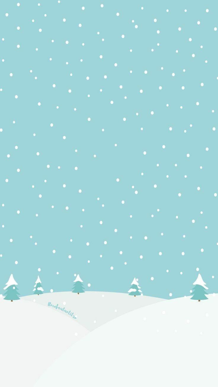 snowy hills phone wallpaper