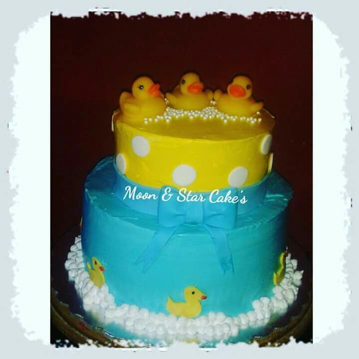 Cake Baby Shower | Pastel De Baby Shower Patitos| Crema | Https://
