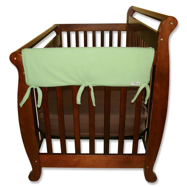 Trend Lab 2-pk. Solid Convertible Crib Side Rail Covers, Green