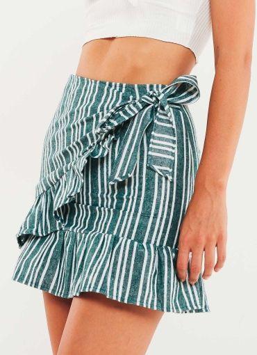 Nikola Skirt - Green Stripe