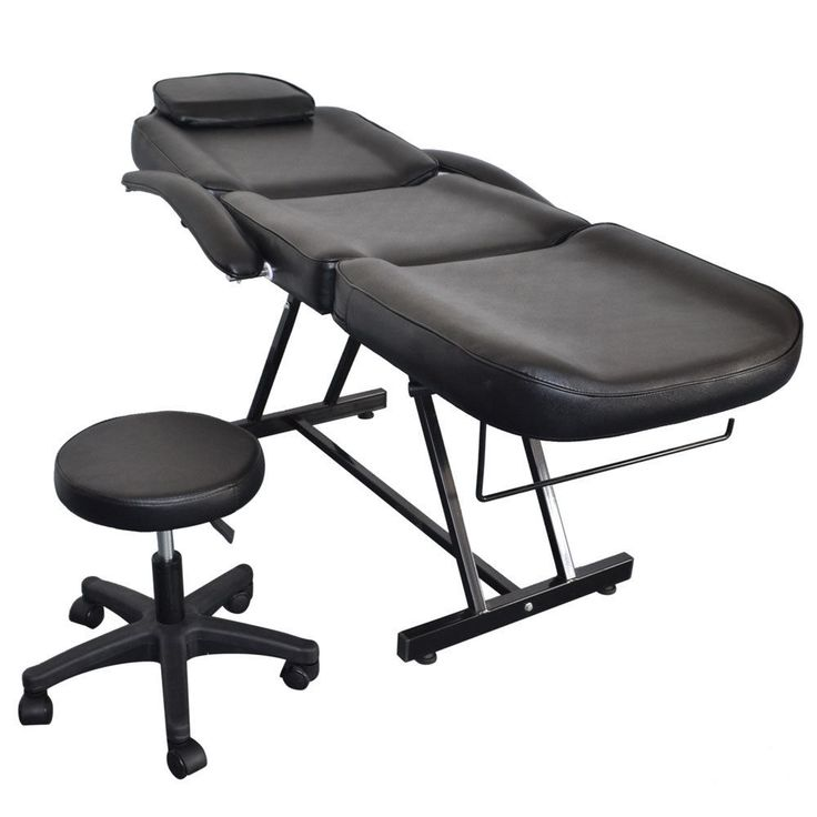 Salon SPA Black Massage Bed Tattoo Chair Facial Adjustable Table Acupuncture