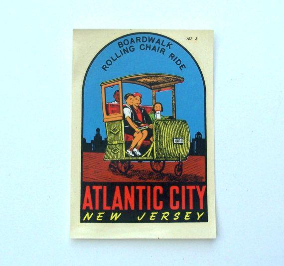 Vintage Decal Atlantic City Boardwalk by MargsMostlyVintage
