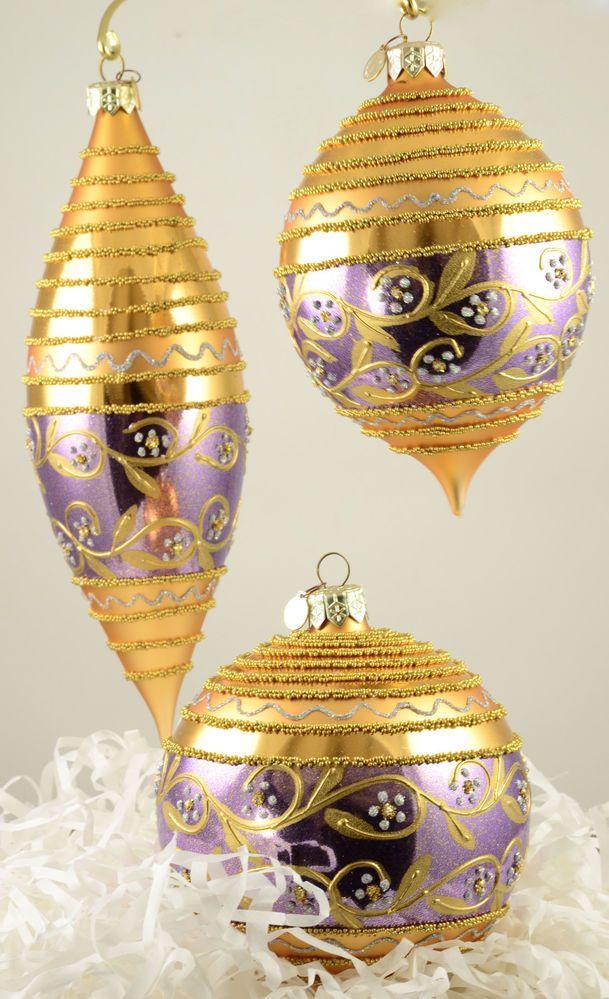 Department 56 Jurado Daisy Glass Easter Ornament Set of 3 ...