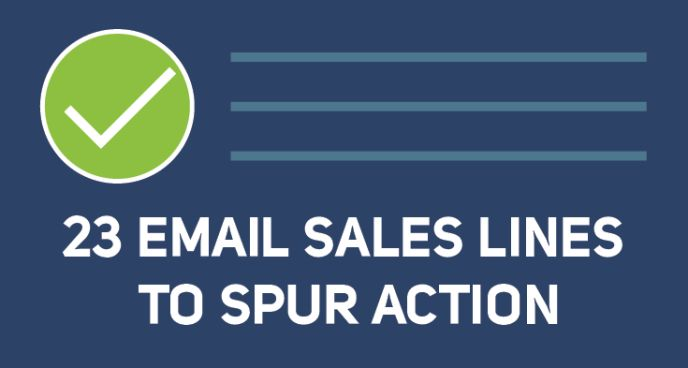 23 email sales lines to spur to action