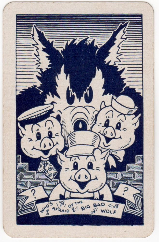 Playing Cards 1 Single Swap Card Old Vintage DISNEY MICKEY MOUSE Musical Saw