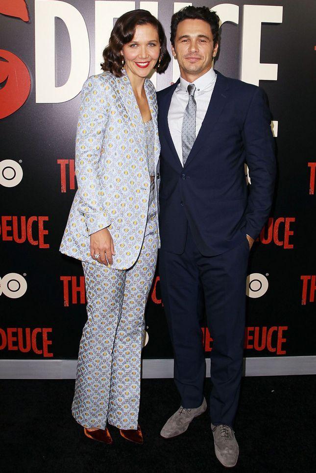Мэгги Джилленхол и Джеймс Франко на премьере сериала Двойка в Нью-Йорке