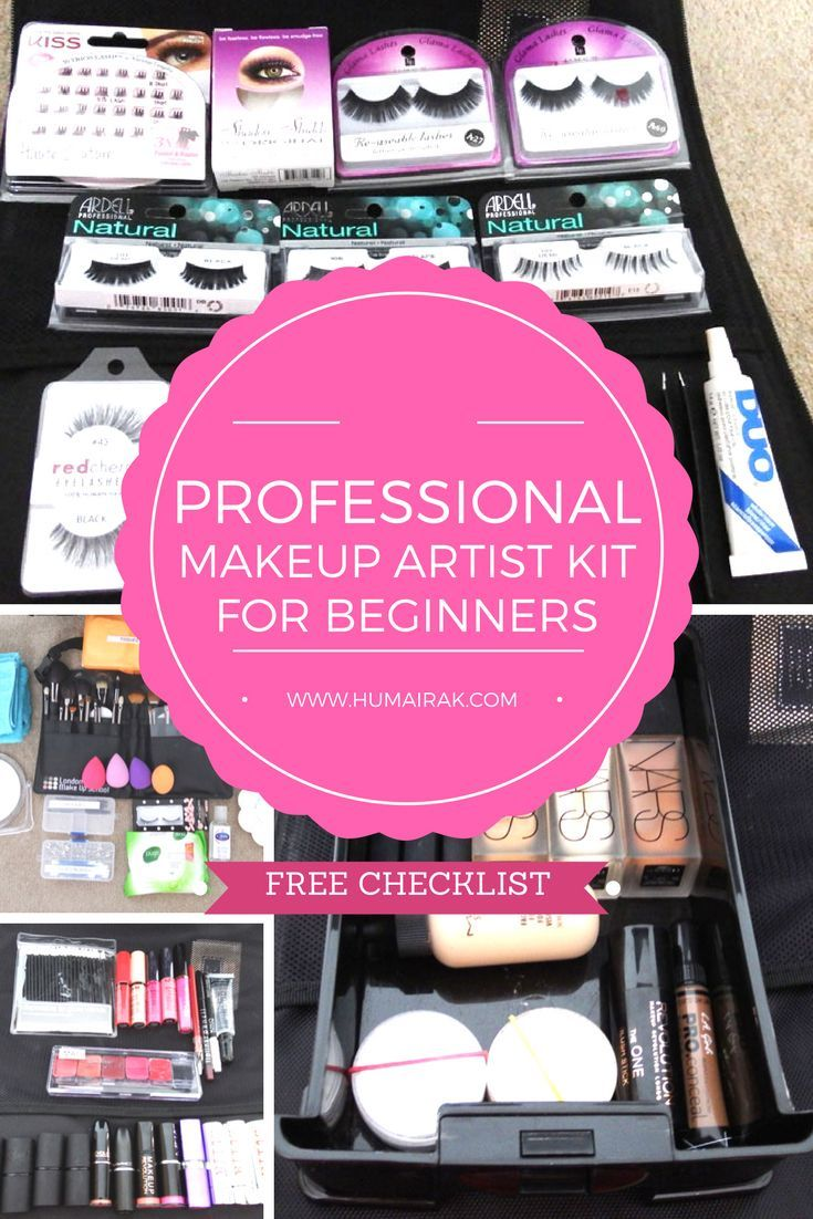 Professional Makeup Artist Kit for Beginners & FREE Checklist - All the things a professional beginner makeup artist needs to start their kit.