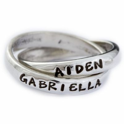 I want this mother's ring with the kid's names. I'll have to keep hinting to my husband... lol