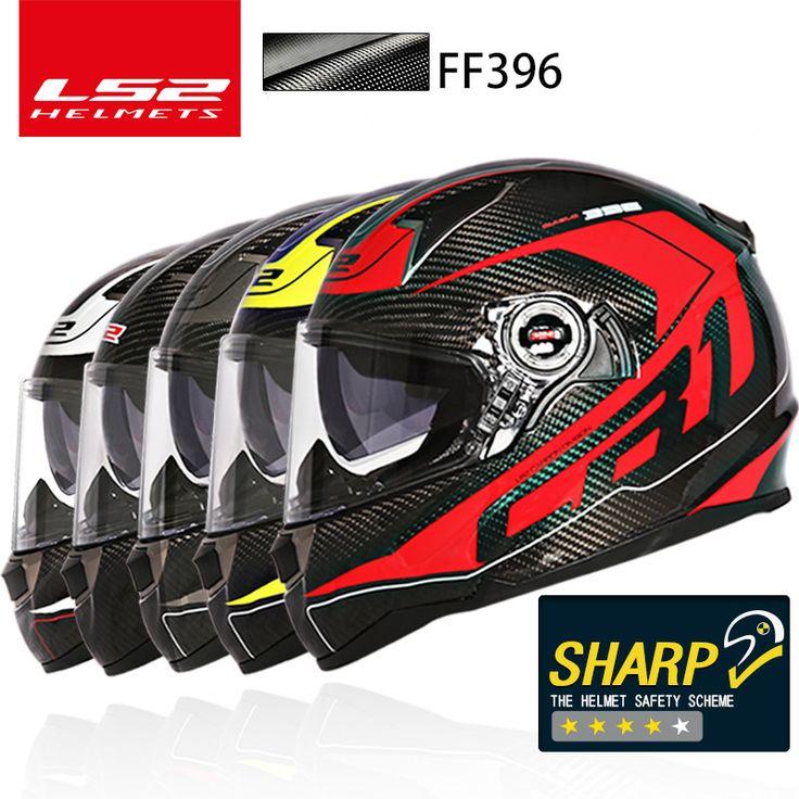 ==> [Free Shipping] Buy Best 100% Original LS2 FF396 Carbon Fiber full face motorcycle helmet dual visor airbags pump Optional black lenses LS2 helmet ECE Online with LOWEST Price | 32822194164