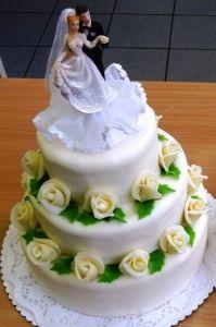 svatební dort 3 patra 2368a
