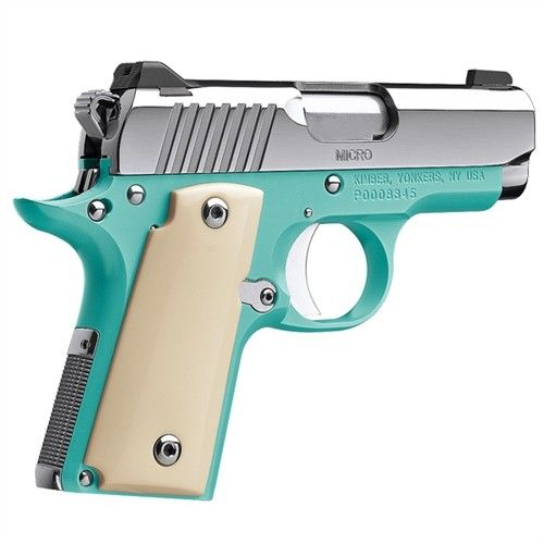 Kimber Micro 9 Bel Air Polished Stainless / Bel Air Blue 9mm 3.15-inch 6Rd
