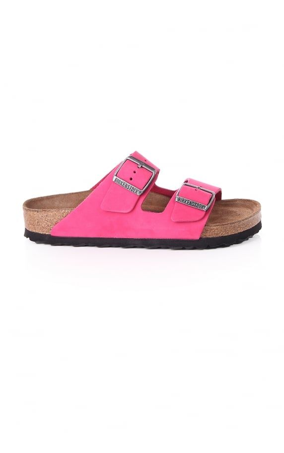 Birkenstock Arizona Nubuck With Soft Footbed Bright Pink