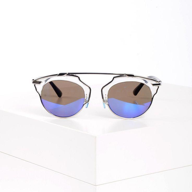 Futuristic Clubmaster Sunglasses- New